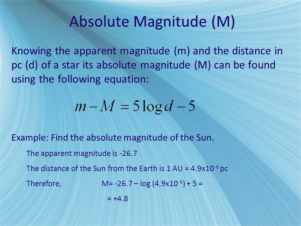 Absolute Magnitude (M)