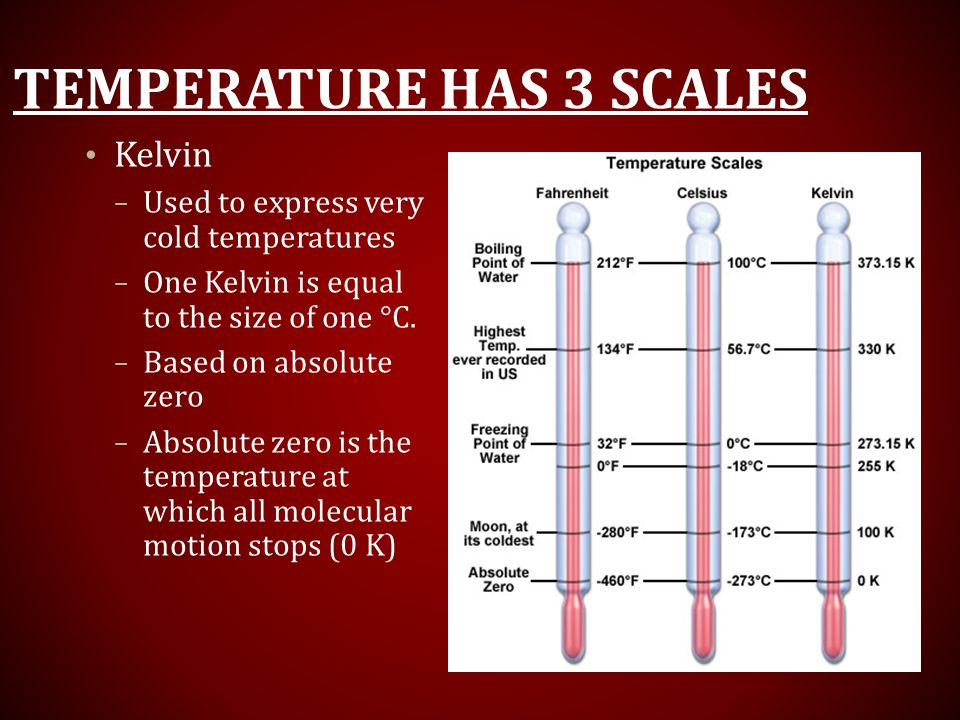 Temperature has 3 scales