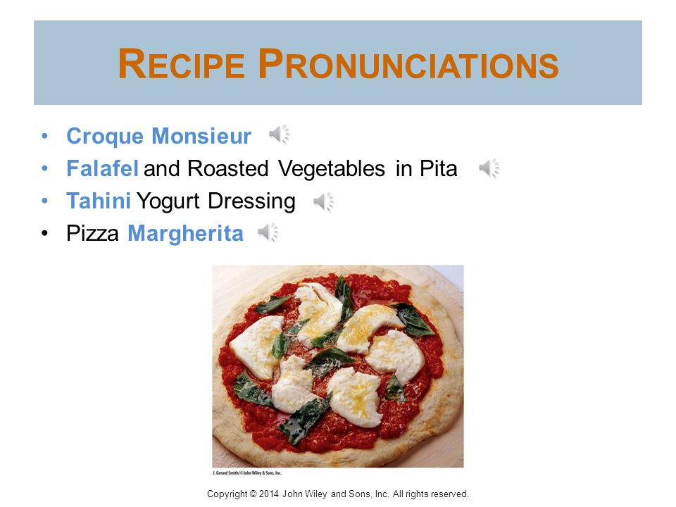 Recipe Pronunciations