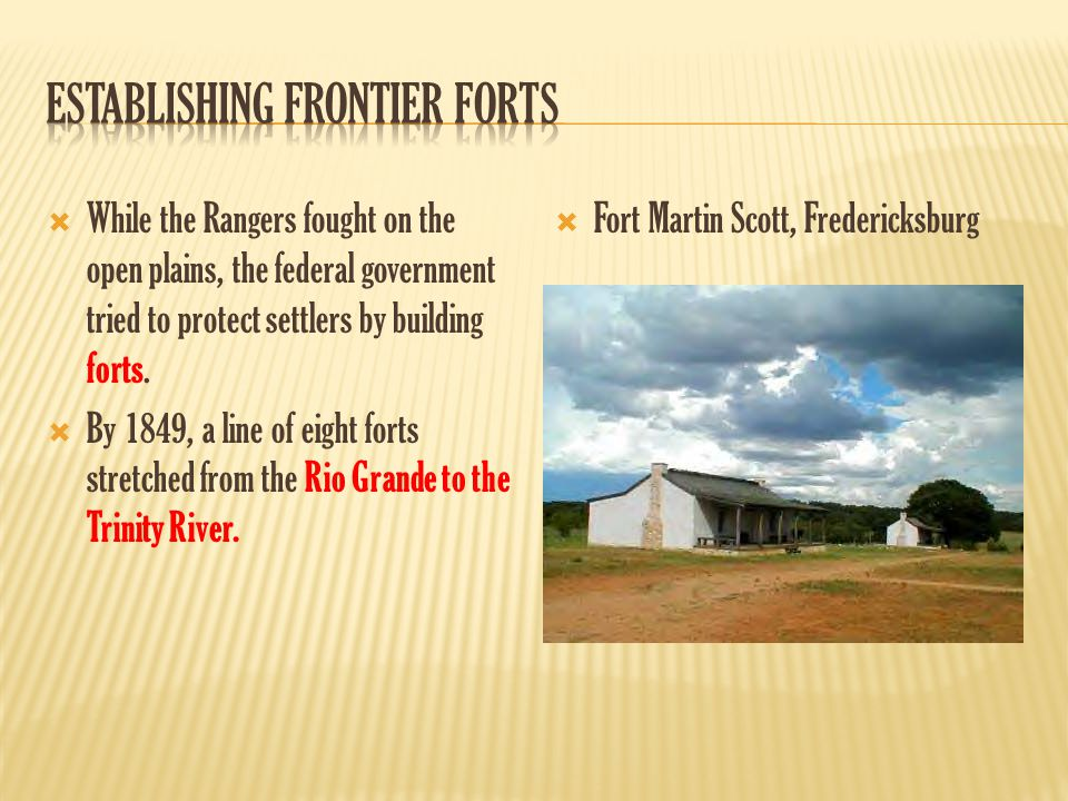 Establishing Frontier Forts