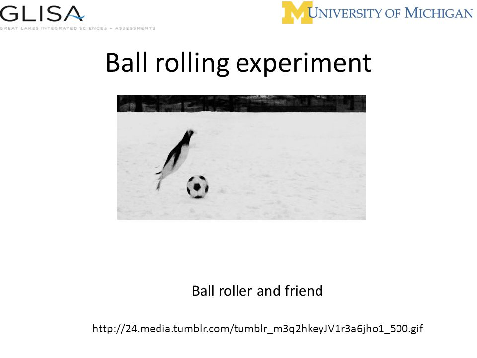 Ball rolling experiment