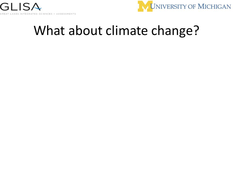 What about climate change