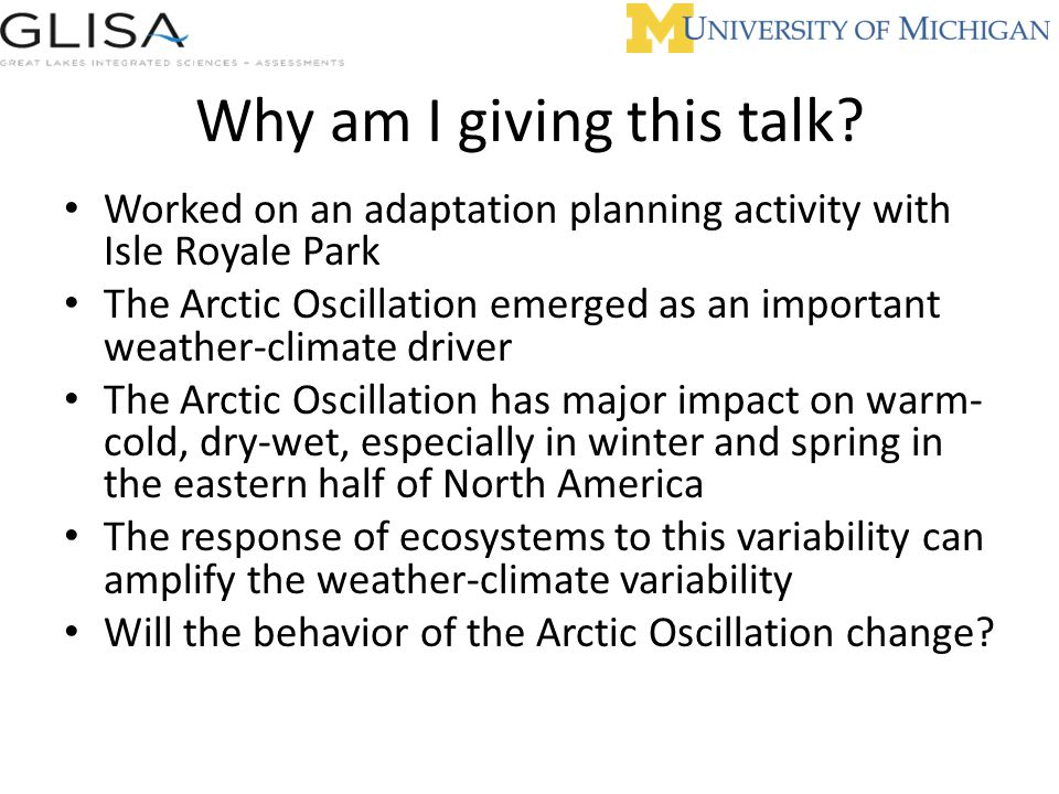 Why am I giving this talk