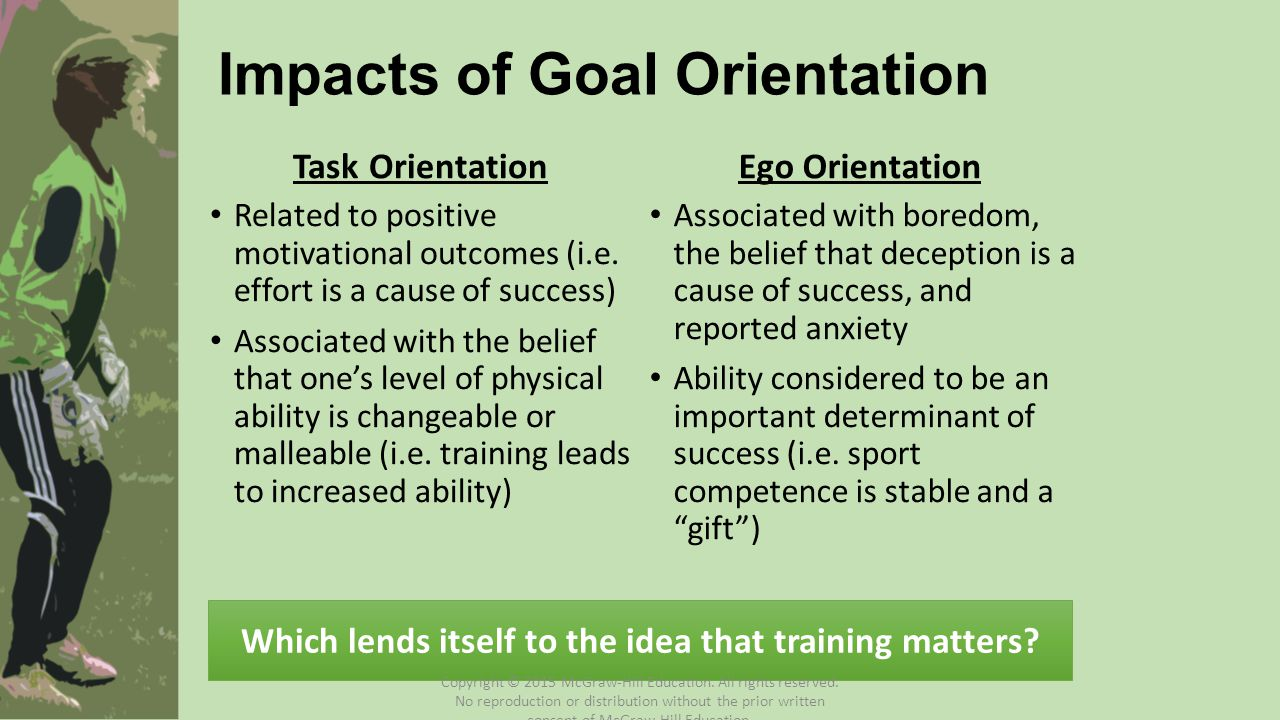 Impacts of Goal Orientation