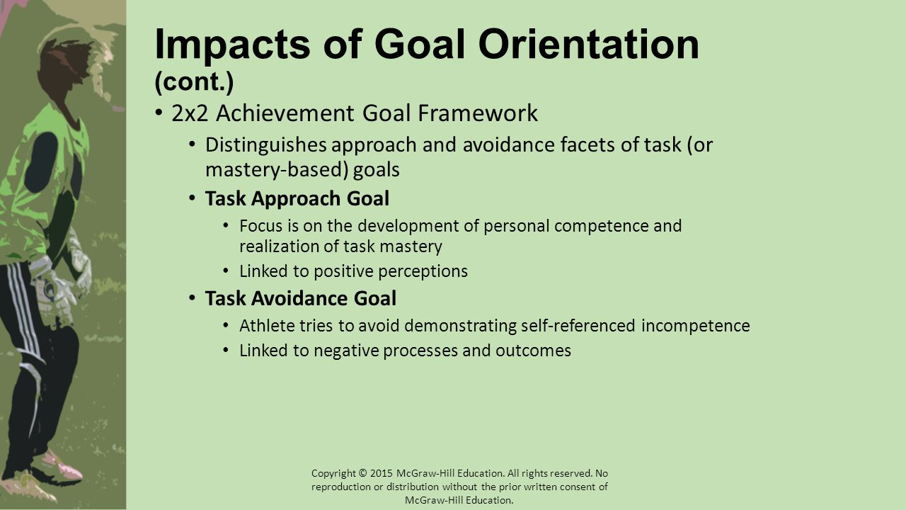 Impacts of Goal Orientation (cont.)