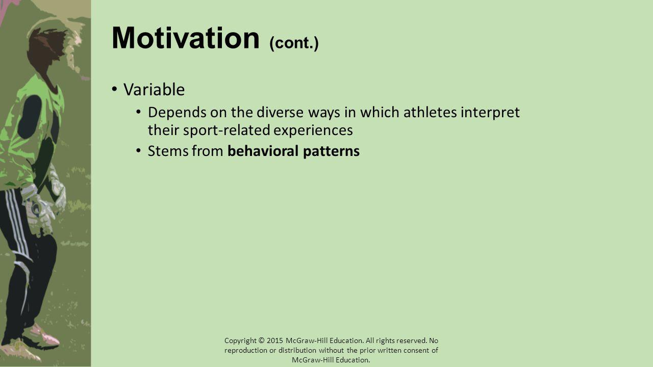 Motivation (cont.) Variable