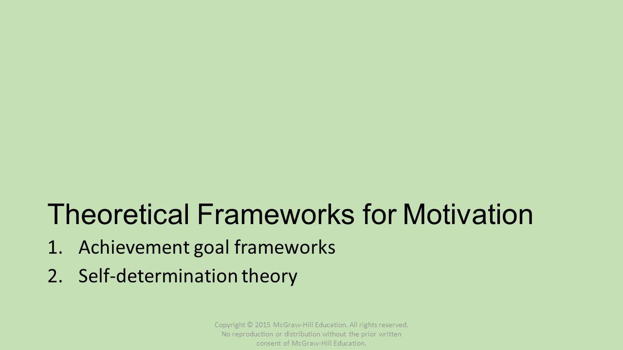 Theoretical Frameworks for Motivation