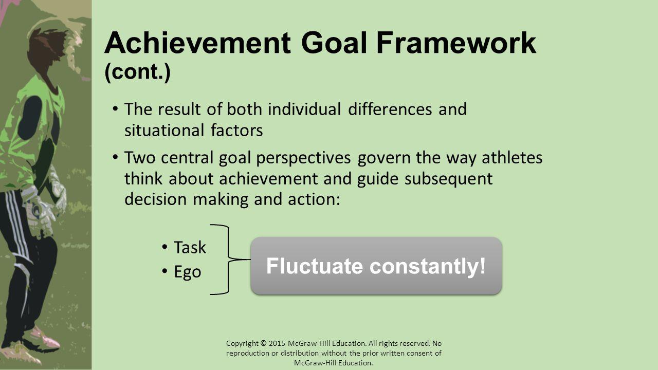 Achievement Goal Framework (cont.)