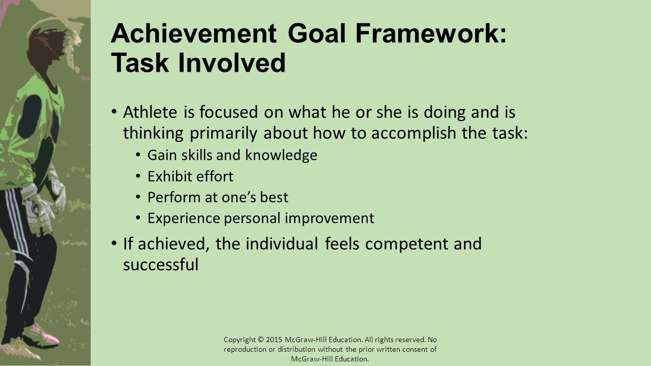 Achievement Goal Framework: Task Involved