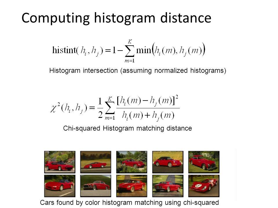 Computing histogram distance