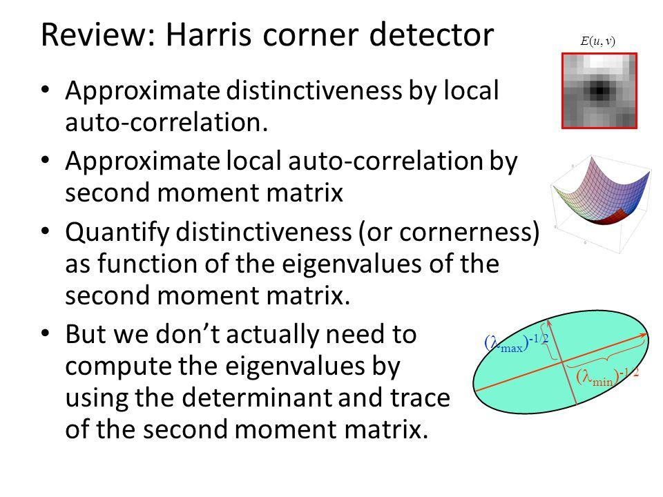 Review: Harris corner detector