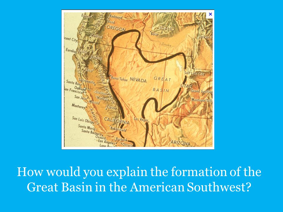 How would you explain the formation of the Great Basin in the American Southwest
