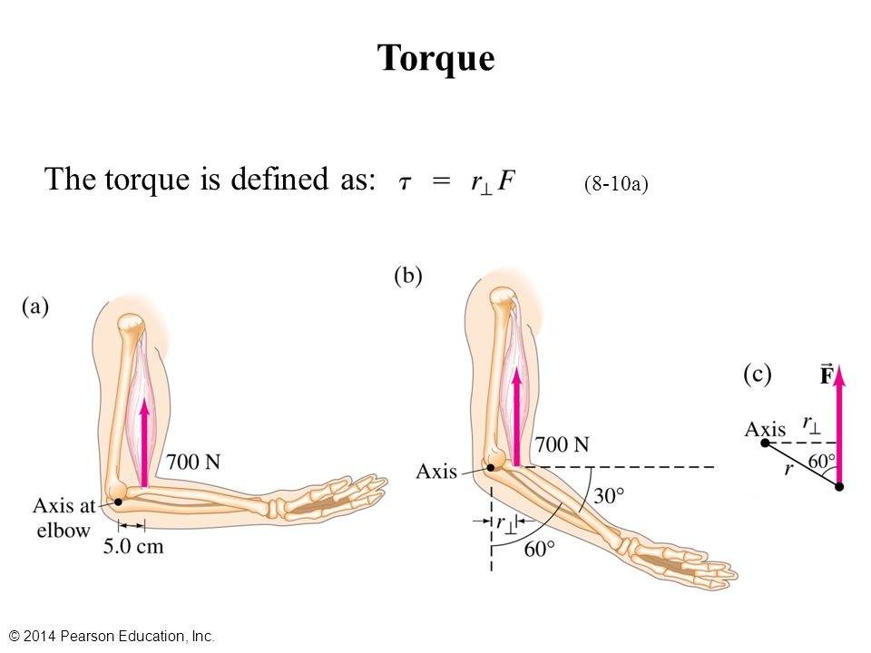 Torque The torque is defined as: (8-10a)