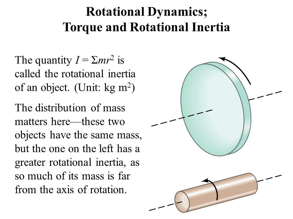 Rotational Dynamics; Torque and Rotational Inertia