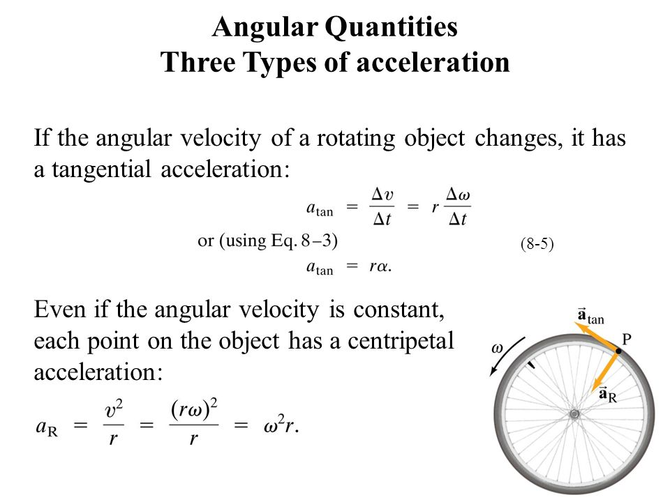 Angular Quantities Three Types of acceleration