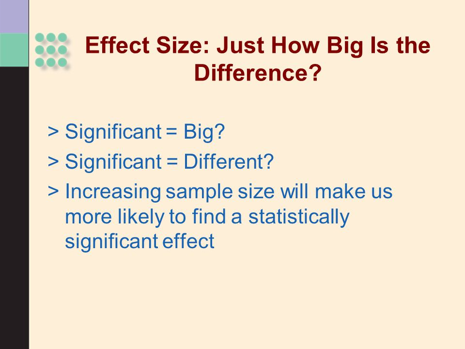 Effect Size: Just How Big Is the Difference