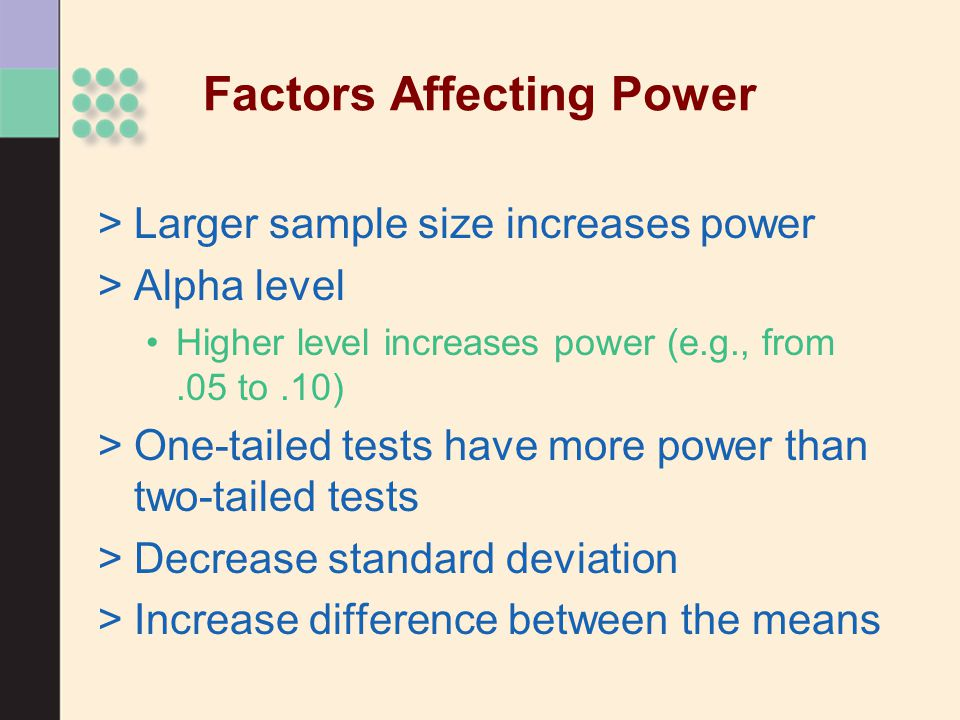 Factors Affecting Power