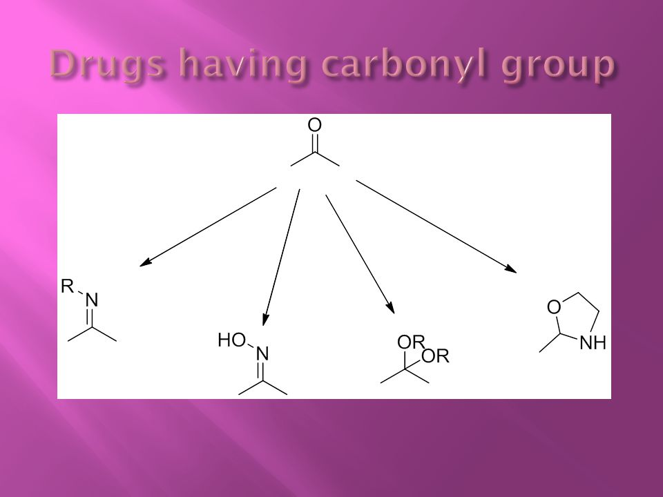 Drugs having carbonyl group