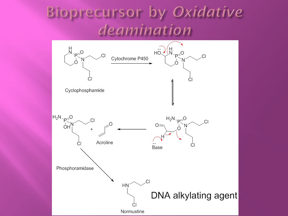 Bioprecursor by Oxidative deamination