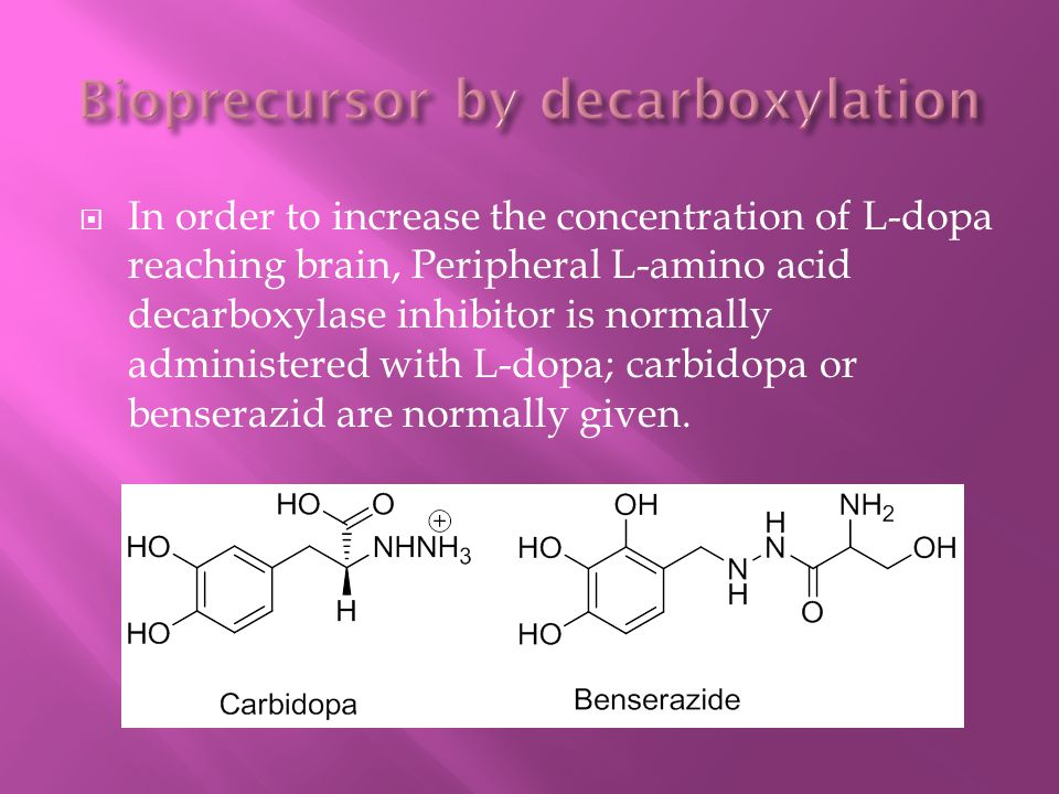 Bioprecursor by decarboxylation