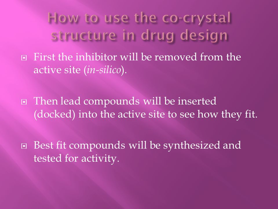 How to use the co-crystal structure in drug design