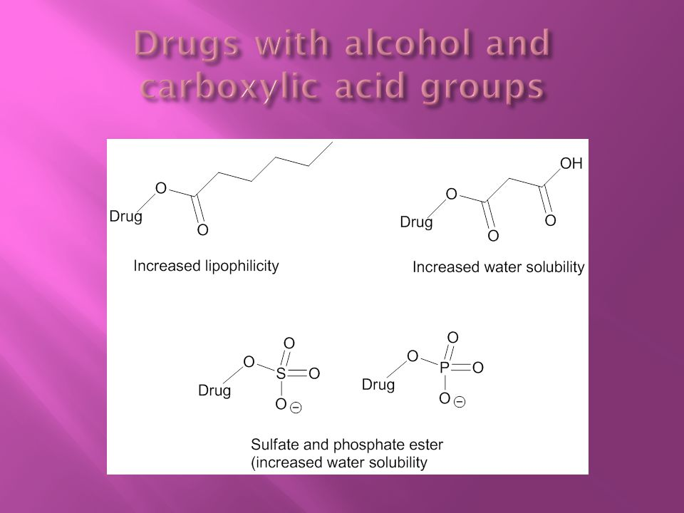 Drugs with alcohol and carboxylic acid groups