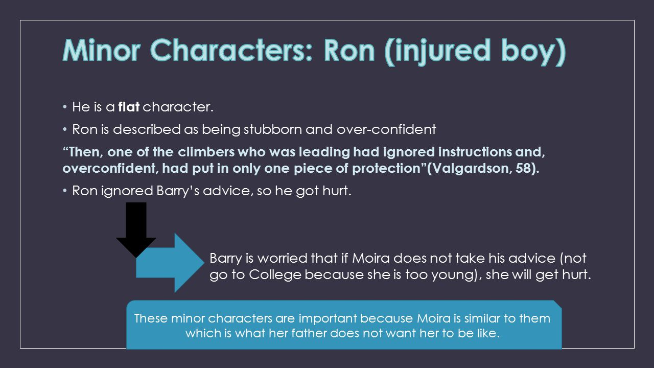 Minor Characters: Ron (injured boy)