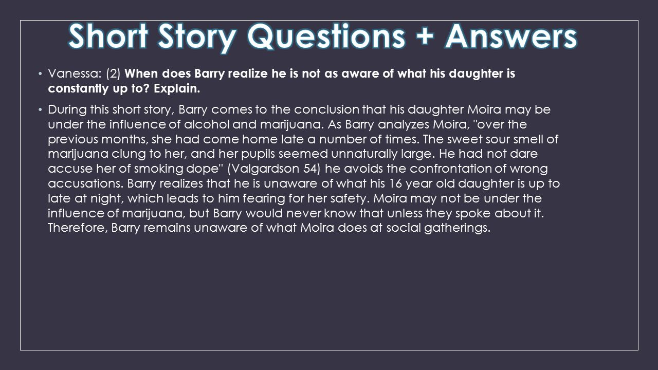 Short Story Questions + Answers