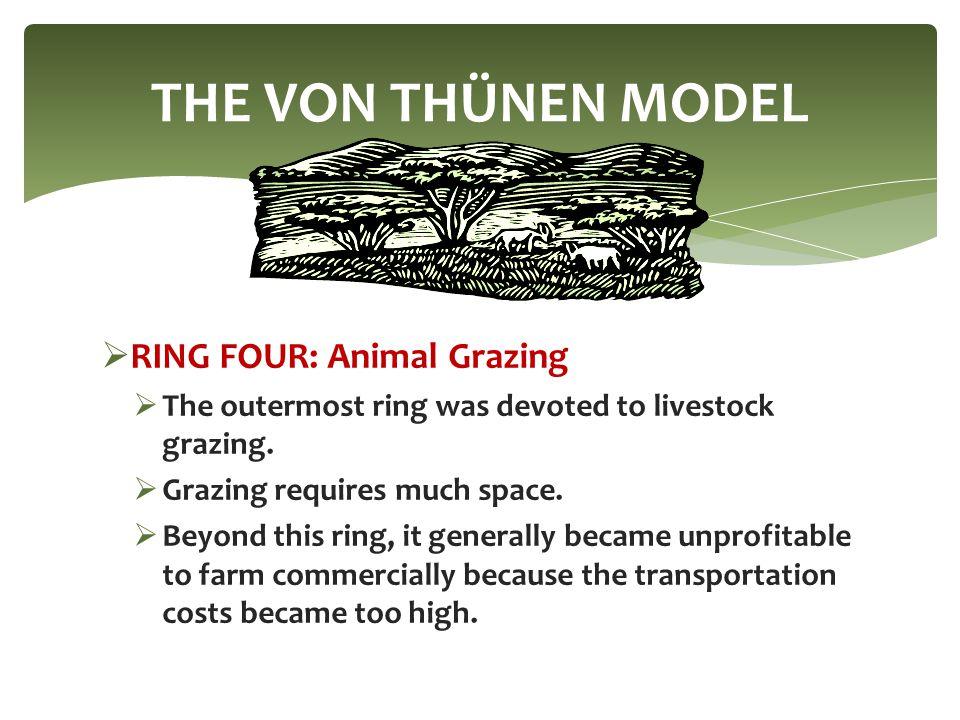 THE VON THÜNEN MODEL RING FOUR: Animal Grazing