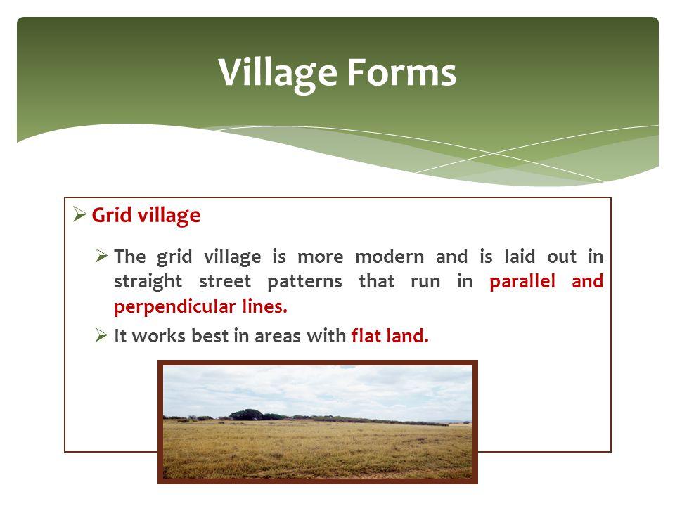 Village Forms Grid village