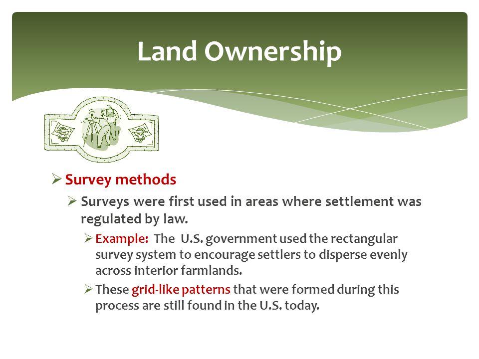 Land Ownership Survey methods