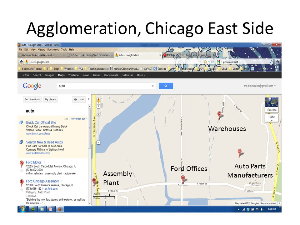 Agglomeration, Chicago East Side