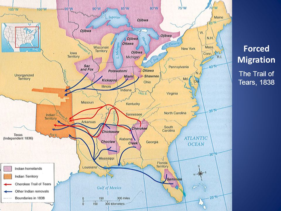 Forced Migration The Trail of Tears, 1838