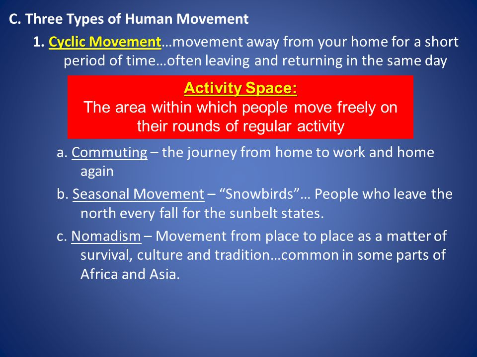 C. Three Types of Human Movement