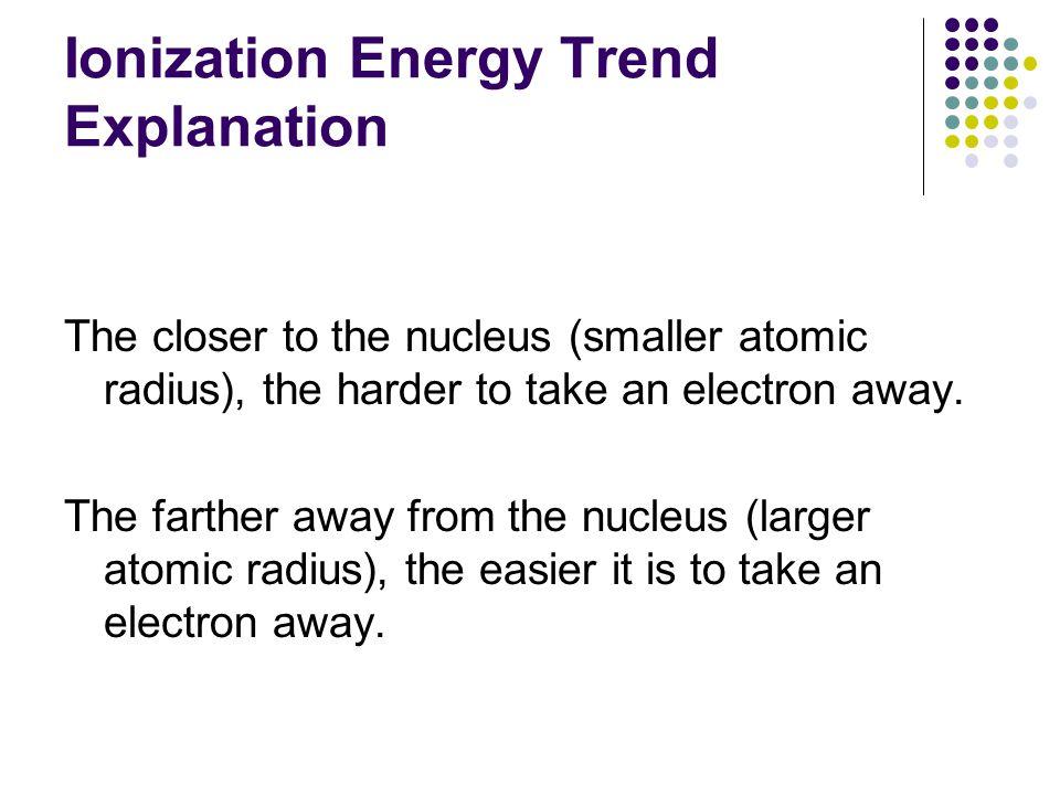 Ionization Energy Trend Explanation