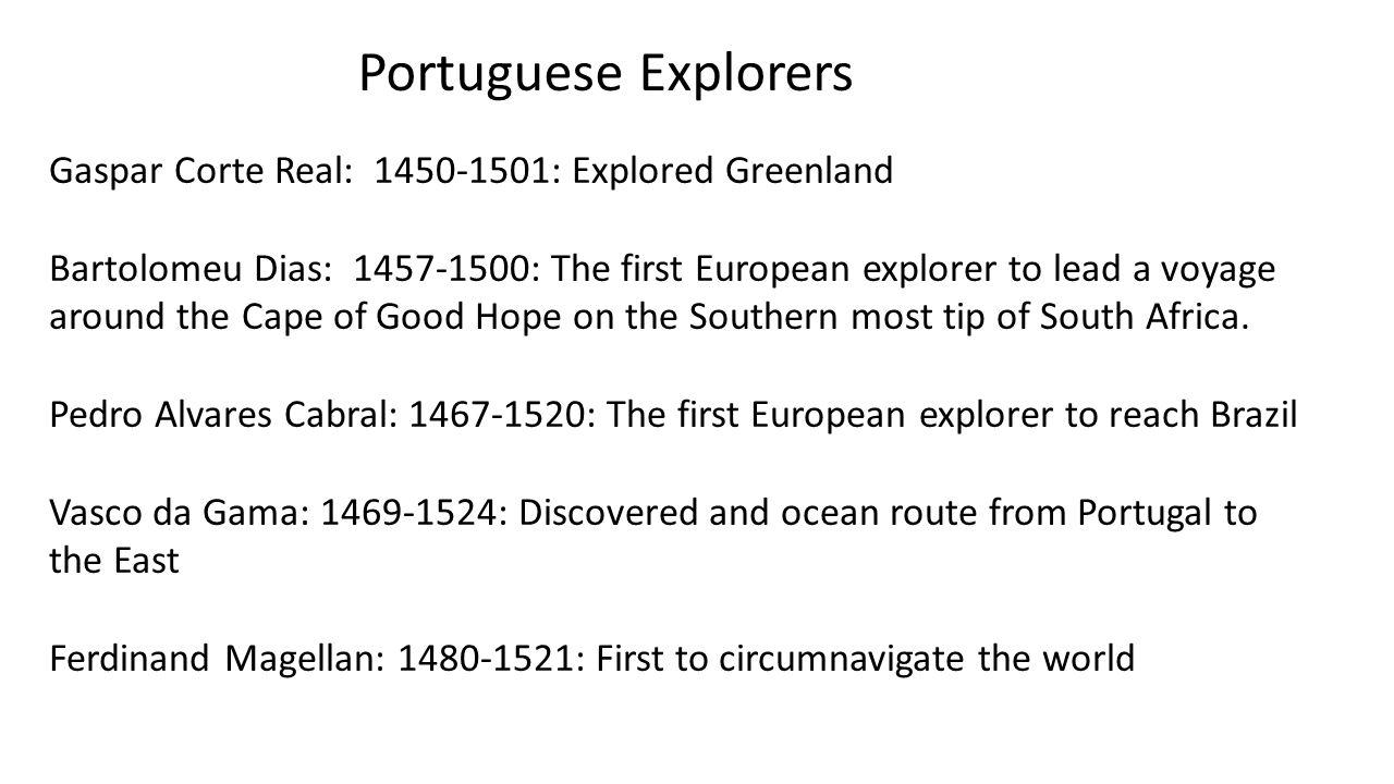 Portuguese Explorers Gaspar Corte Real: 1450-1501: Explored Greenland