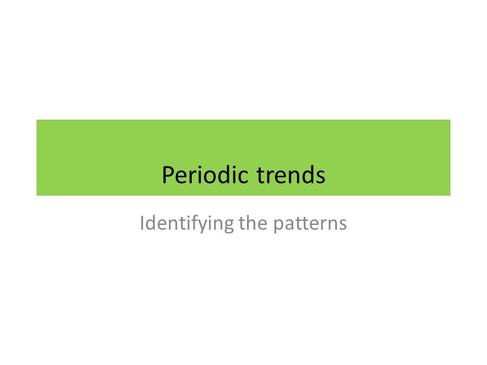 Identifying the patterns