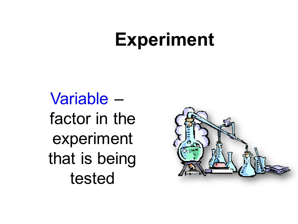 Variable – factor in the experiment that is being tested