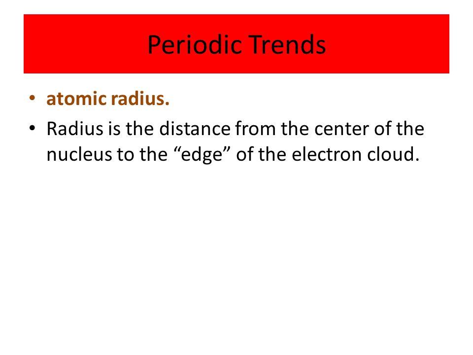 Periodic Trends atomic radius.