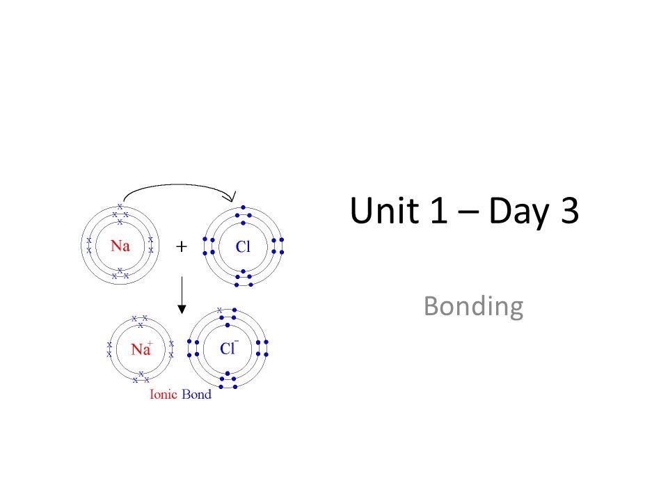 Unit 1 – Day 3 Bonding