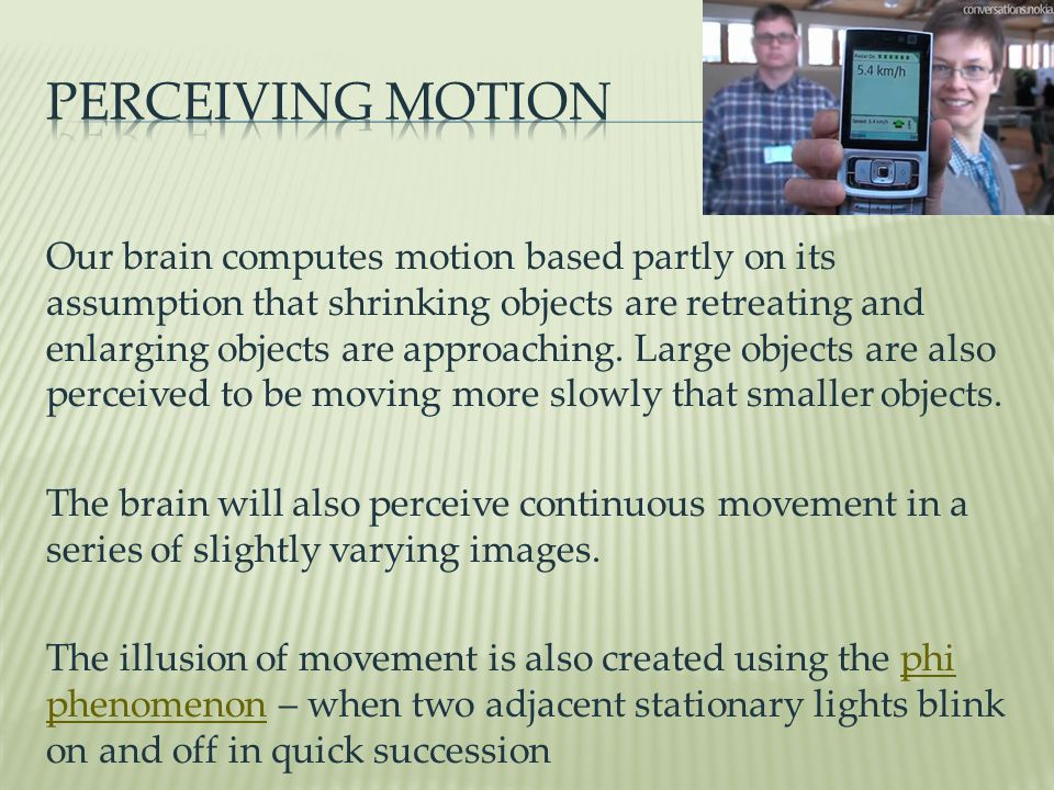 Perceiving Motion