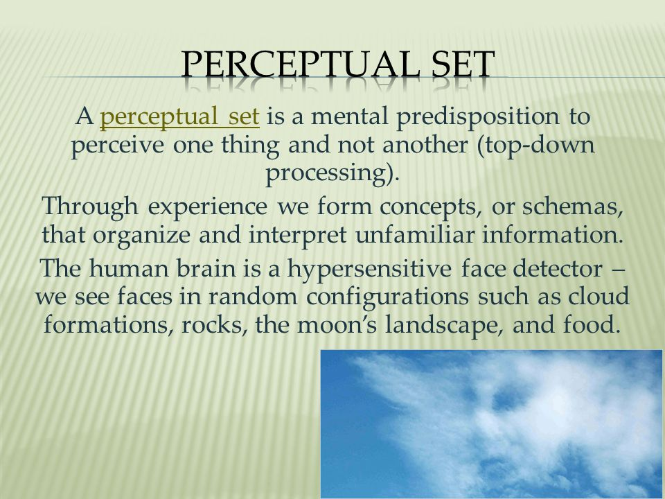 Perceptual Set