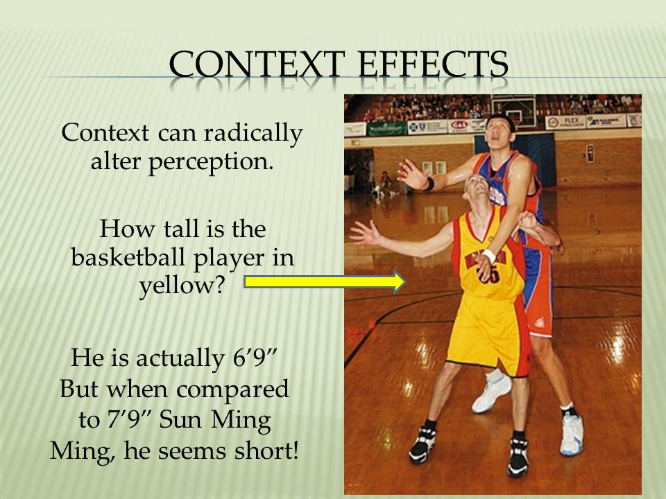 Context Effects Context can radically alter perception.