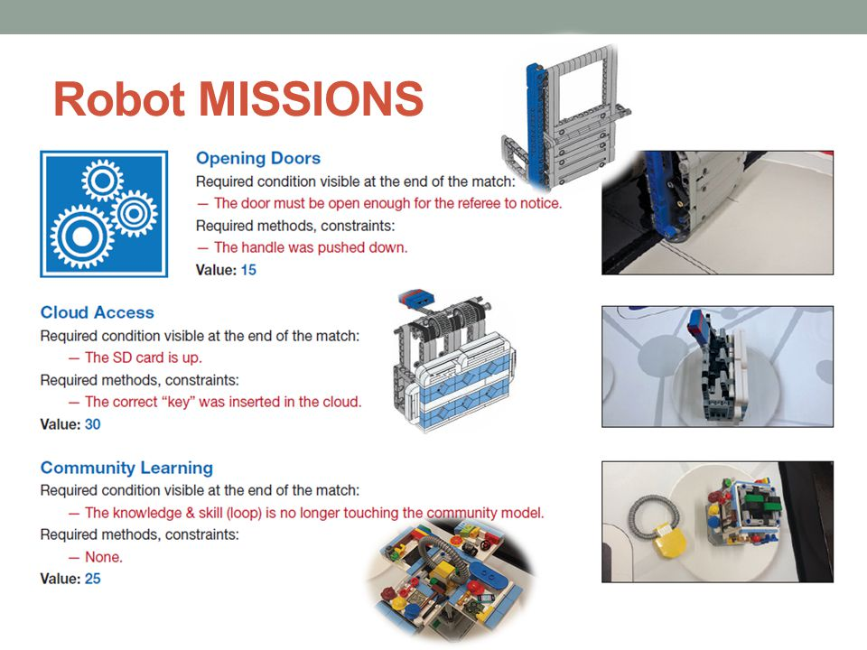 Robot MISSIONS