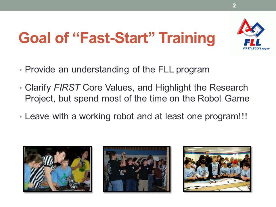 Goal of Fast-Start Training