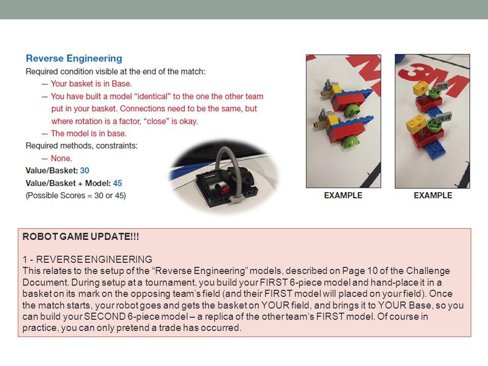 ROBOT GAME UPDATE!!! 1 - REVERSE ENGINEERING.
