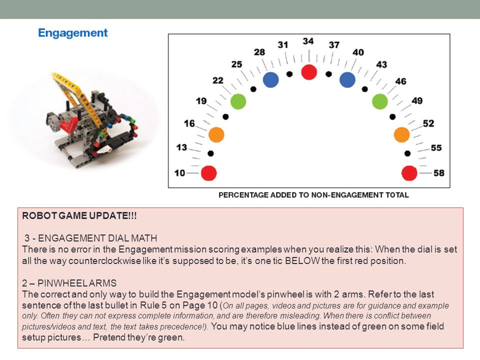 ROBOT GAME UPDATE!!! 3 - ENGAGEMENT DIAL MATH.
