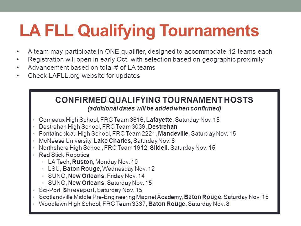 LA FLL Qualifying Tournaments