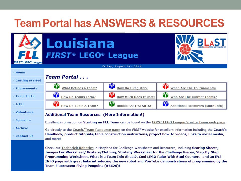 Team Portal has ANSWERS & RESOURCES