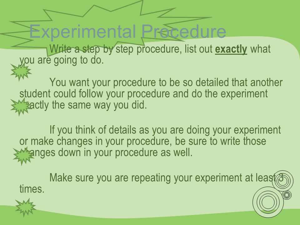 Experimental Procedure